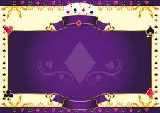 Asso del gioco del poker del fondo di orizzontale dei diamanti Immagini Stock