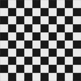 Assoalho checkered preto e branco Fotos de Stock Royalty Free