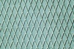 Assoalho ciano do cimento com teste padrão do diamante foto de stock