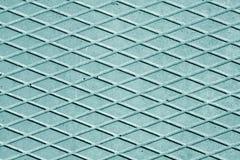 Assoalho ciano do cimento da cor com teste padrão do rombo fotos de stock royalty free