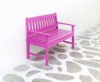 Assoalho cor-de-rosa da cadeira e da decoração Fotografia de Stock Royalty Free