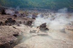 Assoalho da cratera Fotografia de Stock