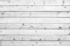 Assoalho da prancha do vintage ou superfície de madeira velha branca da parede Fotografia de Stock Royalty Free