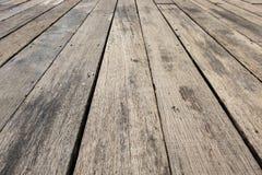 Assoalho de madeira ao ar livre Foto de Stock