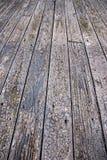 Assoalho de madeira ao ar livre resistido Fotos de Stock