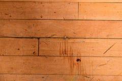 Assoalho de madeira arrastado com fita imagem de stock