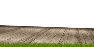 Assoalho de madeira 3d-illustration à terra ilustração stock