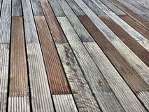 Assoalho de madeira do molhe Imagem de Stock Royalty Free