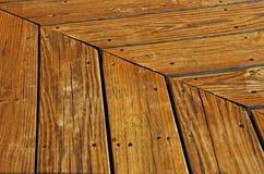 Assoalho de madeira do pátio Foto de Stock Royalty Free