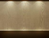 Assoalho de madeira e parede textured Fotografia de Stock