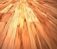 Assoalho de madeira estratificado do mogno Foto de Stock Royalty Free