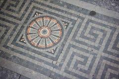 Assoalho de mosaico antigo Foto de Stock