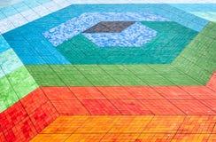 Assoalho de mosaico telhado de cores diferentes. Foto de Stock Royalty Free