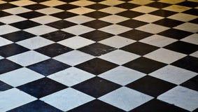 Assoalho de mármore preto e branco Imagem de Stock Royalty Free