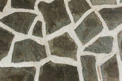 Assoalho de pedra com emendas brancas Abstrac??o foto de stock