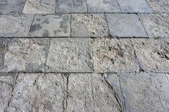 Assoalho de pedra quadrado Fotografia de Stock