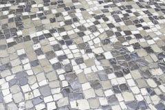Assoalho de pedra típico de Lisboa Fotos de Stock Royalty Free