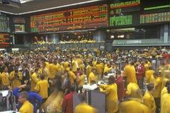 Assoalho de troca da troca de Chicago Mercantile, Chicago, Illinois Imagens de Stock