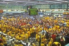 Assoalho de troca da troca de Chicago Mercantile, Chicago, Illinois imagem de stock royalty free