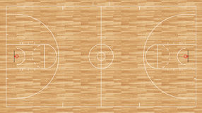 Assoalho do basquetebol - homens regulamentares do ncaa Imagens de Stock