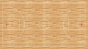 Assoalho do basquetebol - mulheres regulamentares Ilustração Royalty Free
