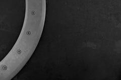 Assoalho do metro com metal e 4 porca-parafusos Imagens de Stock