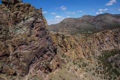 Assoalho do vale do rio curvado Fotos de Stock