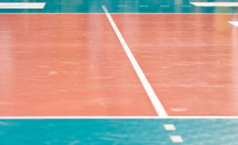 Assoalho do voleibol Foto de Stock Royalty Free