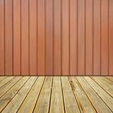 Assoalho e parede de madeira da plataforma Fotografia de Stock