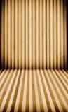 Assoalho e parede de madeira listrados Fotografia de Stock Royalty Free