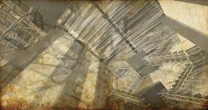 Assoalho. Interior industrial moderno, escadas, espaço limpo no indust Fotografia de Stock Royalty Free