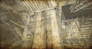 Assoalho. Interior industrial moderno, escadas, espaço limpo no indust Foto de Stock Royalty Free