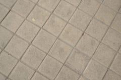 Assoalho quadrado do pavimento, linhas diagonais Imagens de Stock Royalty Free