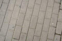 Assoalho retangular do pavimento, linhas diagonais Imagem de Stock Royalty Free