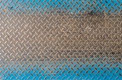 Assoalho sujo do metal com formas do rombo Imagens de Stock Royalty Free
