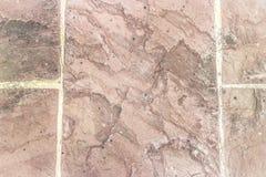 Assoalho velho com tijolos e concreto Imagem de Stock Royalty Free