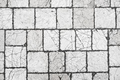 Assoalho velho de pedra branco Imagens de Stock