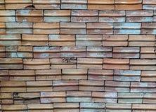 Assoalho velho do tijolo do teste padrão Fotografia de Stock