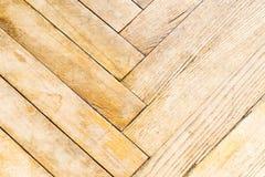 Assoalho velho e gasto Textura de madeira do parquet do grunge das pranchas imagem de stock royalty free