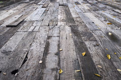 Assoalhos de madeira velhos Imagens de Stock