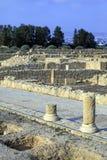 Assoalhos do mosaico de casas de campo dos romanos da elite Foto de Stock