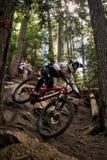Assobiador da raça da bicicleta dos world series de Enduro Imagem de Stock Royalty Free