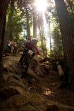 Assobiador da raça da bicicleta dos world series de Enduro Fotografia de Stock
