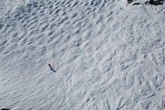 Assobiador de esqui BC Canadá das inclinações fotografia de stock royalty free