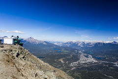 Assobiadores montanha, Jasper National Park Imagens de Stock Royalty Free