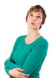 Assobio alegre da mulher nova Imagem de Stock