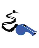 Assobio azul Foto de Stock Royalty Free