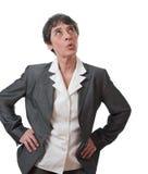 Assobio da mulher de negócios Imagem de Stock Royalty Free