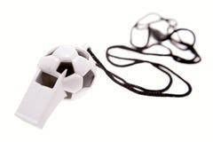 Assobio dado forma futebol Imagem de Stock Royalty Free