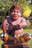 Assobio tradicional do músico da estatueta, Sanur, Bali, Indonésia Imagens de Stock